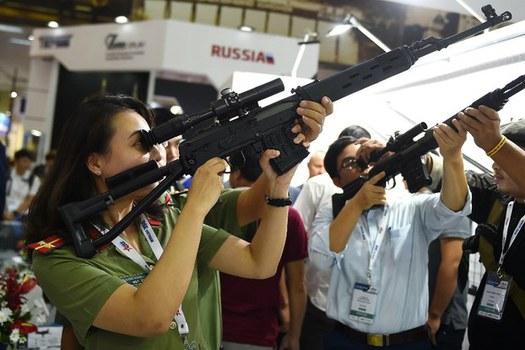 Ảnh minh họa. Công an Việt Nam thử súng.
