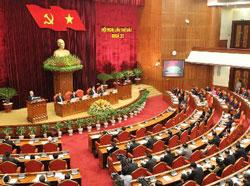 Buổi khai mạc Hội nghị lần thứ 6 BCH Trung ương ĐCS VN khoá XI hôm 01 tháng 10 năm 2012. Courtesy chinhphu.vn