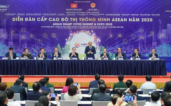 Diễn đàn cấp cao đô thị thông minh ASEAN (ASEAN Smart Cities Summit & Expo 2020) hôm 22 tháng 10 năm 2020 ở Hà Nội.