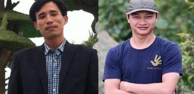 Hoàng Đức Bình (trái) đã bị bắt và Bạch Hồng Quyền đang bị truy nã do lên tiếng về vụ Formosa.