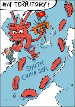 Tranh biếm họa Trung Quốc đòi chủ quyền toàn bộ Biển Đông