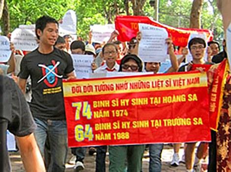 Biểu tình chống Trung Quốc tại Hà Nội ngày 24/7/2011