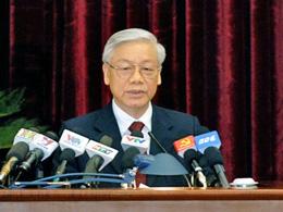 Tổng Bí thư Nguyễn Phú Trọng phát biểu khai mạc Hội nghị - ảnh: HH/dangcongsan.vn