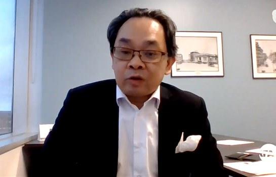 Luật sư Vũ Đức Khanh trong cuộc phỏng vấn với RFA ngày 22/11/19.