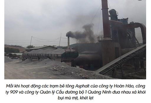 Người dân sinh sống xung quanh khu vực các mỏ đá ở thôn Đồng Cao, xã Thống Nhất, huyện Hoành Bồ, tỉnh Quảng Ninh kêu cứu vì sống trong khói bụi mịt mù hơn 10 năm.
