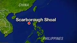 Bãi cạn Scarborough trên bản đồ thế giới- Philippine media screenshot