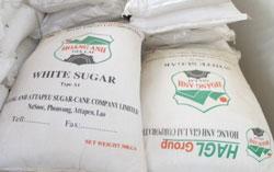 Đường trắng do Tập đoàn HAGL sản xuất từ mía trồng ở Lào. Photo courtesy of HAGL.