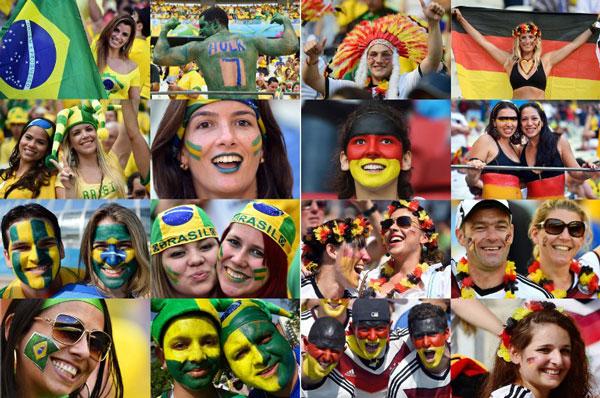 Ủng hộ viên Brazil và Đức
