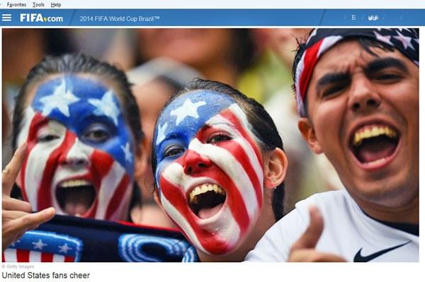 Các cổ động viên Hoa Kỳ tại world cup 2014