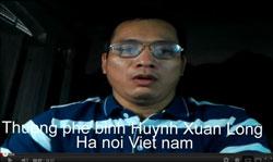 Blogger Huỳnh Xuân Long trong một đoạn youtube nói về nỗi oan ức của gia đình ông