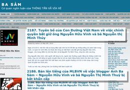 Trang blog Bsam ngày 6 tháng 5, 2014 (RFA screen cap.)
