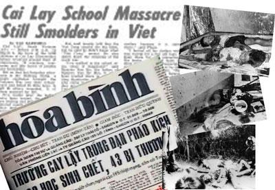 Ngày 9 tháng 3 năm 1974 Mặt trận giải phóng miền Nam pháo kích vào trường tiểu học Cai Lậy thuộc tỉnh Định Tường, bây giờ là tỉnh Tiền Giang, giết chết 32 học sinh và làm bị thương nặng nhẹ 55 học sinh khác