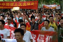 Biểu tình chống Nhật Bản tại Hàng Châu, Trung Quốc ngày 19/8/2012. AFP photo.
