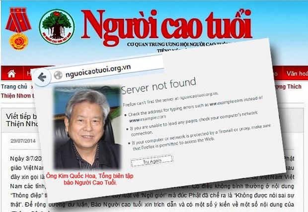 Tên miền nguoicaotuoi.org.vn đã bị gỡ xuống