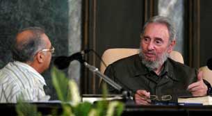 Cựu Chủ tịch Cuba Fidel Castro trong buổi giới thiệu sách mới của mình tại Đại học Havana ngày 10 tháng 09 năm 2010.