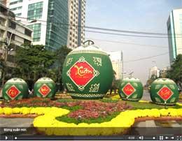Xem hình ảnh và âm thanh Sài Gòn đón chào năm mới 2009