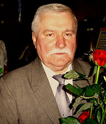 Lech Walesa. Photo courtesy of Wikipedia.