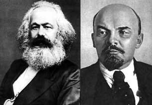 Karl Marx và Vladimir llyich Lenin.