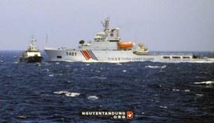 Tàu Hải cảnh Trung Quốc chủ động đâm thẳng vào mạn trái tàu Cảnh sát biển Việt Nam