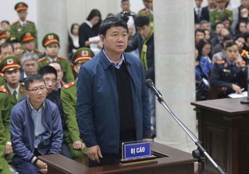 Hình minh  họa. Cựu ủy viên Bộ Chính trị Đinh La Thăng tại tòa ở Hà Nội hôm 8/1/2018
