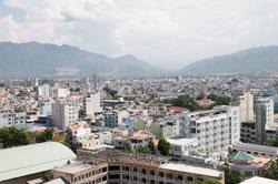 Một góc TP Nha Trang nhìn từ trên cao. RFA photo