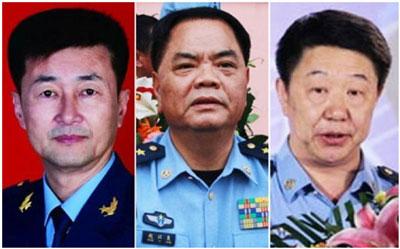 Từ trái qua phải - Phạm Kiêu Tuấn, Triệu Dĩ Lương, Vu Trung Phúc.