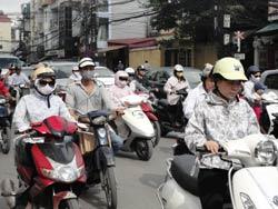 Giải quyết ùn tắc giao thông là một trong ba vấn đề Bộ trưởng Đinh La Thăng tập trung giải quyết. RFA photo