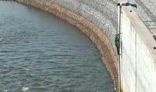Đập thủy điện Nam Theun 2 trên sông Mêkông ở địa phận Lào. RFA PHOTO.