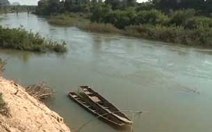 Đoạn sông Mêkông chảy qua địa phận Lào. RFA PHOTO.