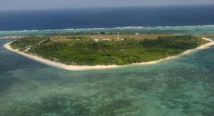 Một đảo thuộc quần đảo Trường Sa, ngày 20 tháng 7 năm 2011. AFP PHOTO / POOL.