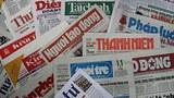 Một số những tờ báo phát hành tại VN hiện nay.