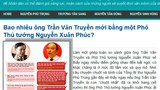 Trang blog Chân Dung Quyền Lực tố cáo ông Nguyễn Xuân Phúc