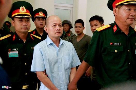 Ông Đinh Ngọc Hệ tức Út Trọc tại tòa ở Hà Nội
