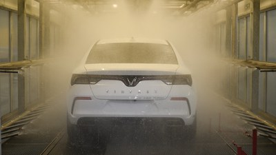 Hình minh hoạ. Xe ô tô của hãng VinFast ở nhà máy tại Hải Phòng hôm 22/4/2021