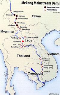 Những Con Đập Dòng Chính Sông Mekong. Source: Stimson Center.
