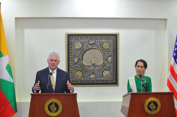 Rex Tillerson and Suu Kyi