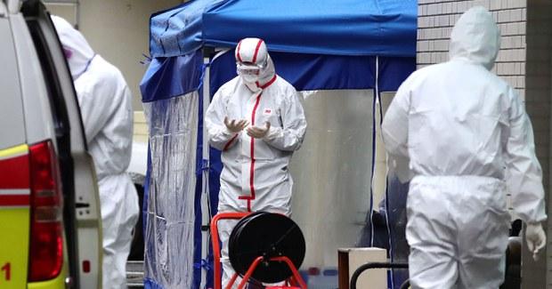 Nhân viên y tế tại một bệnh viện ở TP. Daegu