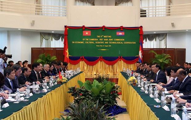 Việt Nam - Campuchia tổ chức Kỳ họp Ủy ban hỗn hợp lần thứ 18 vào ngày 22/12