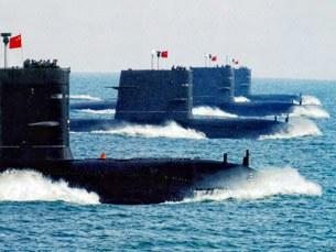 Lực lượng tàu ngầm tấn công của Trung quốc biểu diễn trên biển Đông. Ảnh minh họa