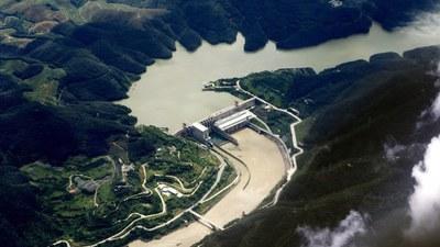 Đập thủy điện Cảnh Hồng trên sông Lan Thương, một nhánh của sông Mekong.