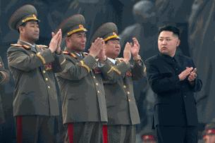 Lãnh tụ Bắc Hàn trong 1 buổi lễ duyệt binh