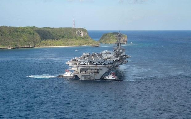 Hàng không mẫu hạm của Mỹ vào Biển Đông giữa lúc máy bay Trung Quốc đe doạ Đài Loan