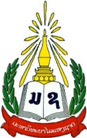 Logo biểu tượng của Đại Học Quốc Gia Lào, thủ đô Vạn Tượng