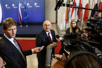 Các Bộ trưởng tài chính châu Âu họp tại Brussels, Bỉ vào hôm 5/12/2016.