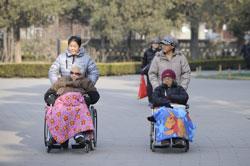 Nạn lão hóa dân số ở Trung Quốc. AFP photo