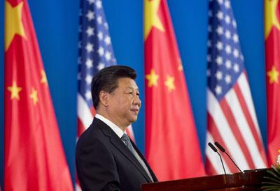 Chủ tịch Trung Quốc Tập Cận Bình phát biểu trong phiên khai mạc Đối thoại chiến lược và kinh tế Hoa Kỳ - Trung Quốc tại Bắc Kinh vào ngày 6 tháng 6 năm 2016.