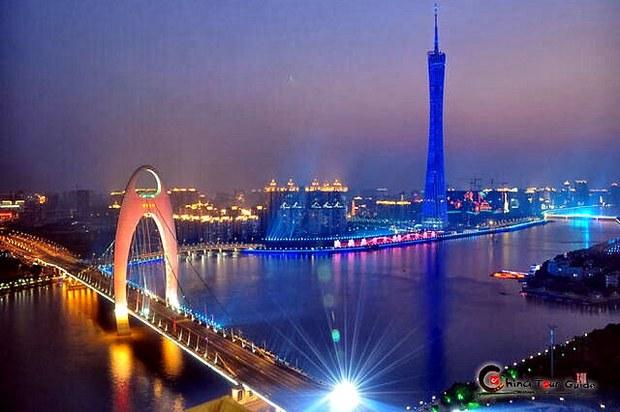 Cầu Liede dọc theo sông Pearl tại thành phố Quảng Châu