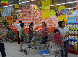 Bên trong siêu thị Big C Hà Nội hôm 03/10/2012. RFA photo