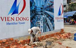Một công trình xây khách sạn đang hoàn thành. AFP