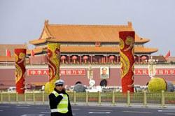 Quảng trường Thiên An Môn ở Bắc Kinh, Trung Quốc. AFP photo.